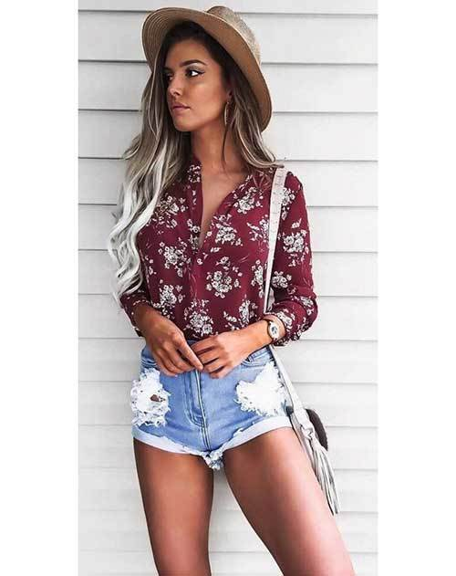 Summer Ripped Denim Outfits for Women