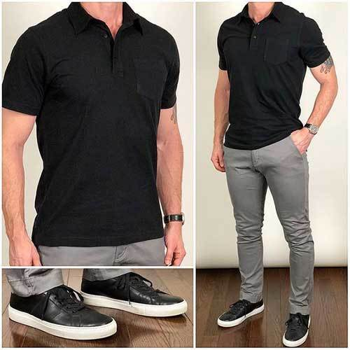 Casual Black Outfits for Men