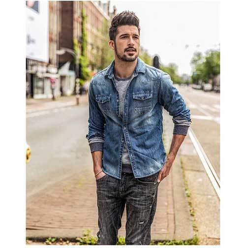 Casual Full Denim Outfits for Men