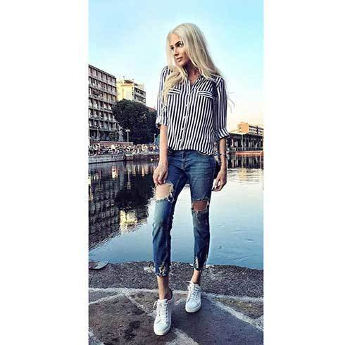 Cute Casual Ripped Jeans Outfits