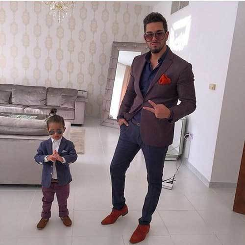 Dad and Son Portrait Outfits