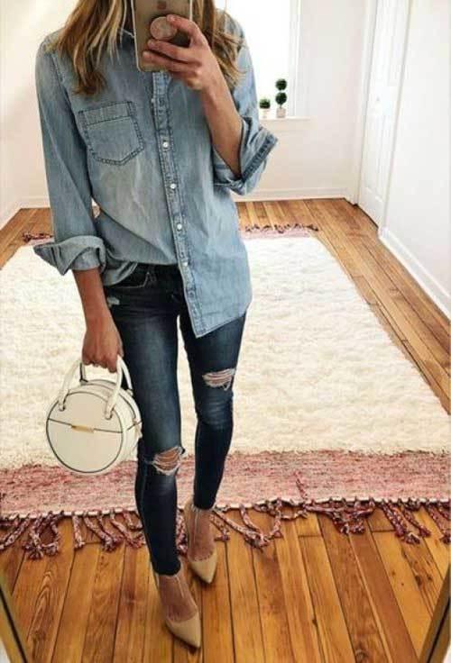 Denim Everyday Jeans for Ladies