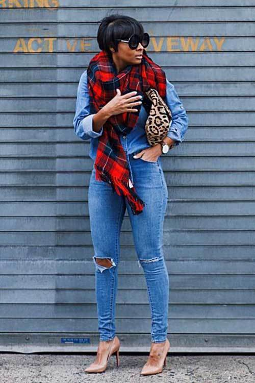 Fall Fashion Denim Jeans for Ladies