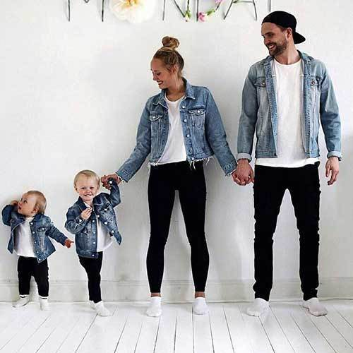 Family Portrait Denim Outfit Ideas