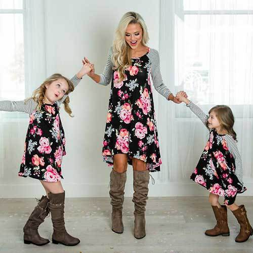 Family Portrait Floral Outfit Ideas