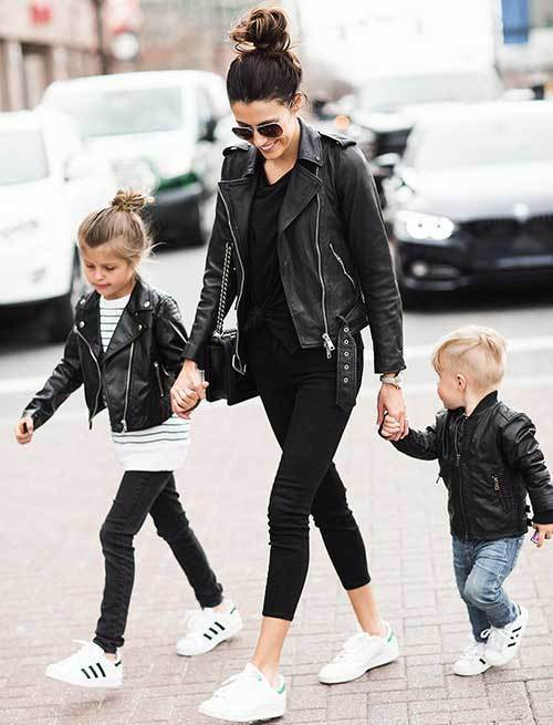 Family Portrait Leather Outfit Ideas