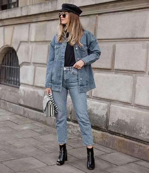 Denim Mom Jeans for Ladies