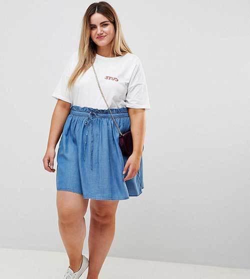 Cute Plus Size Denim Outfits