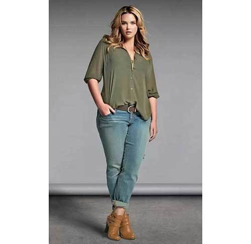 Cute Plus Size Khaki Outfits