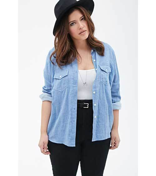 Cute Plus Size Shirt Outfits