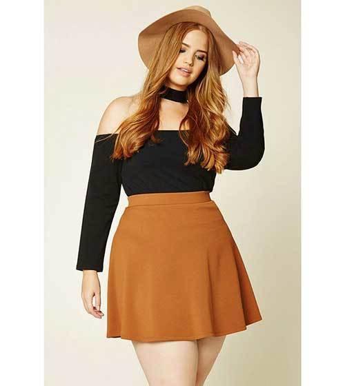 Cute Plus Size off Shoulder Outfits