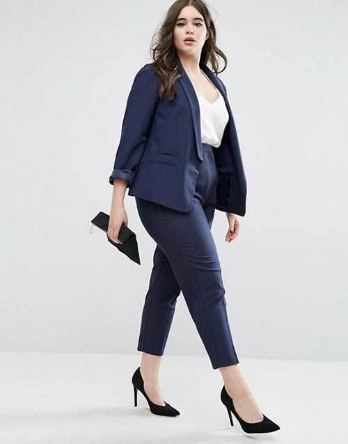 Cute Plus Size Blazer Outfits