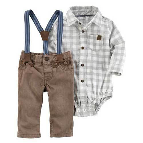 Toddler Boy Suspender Outfit Sets