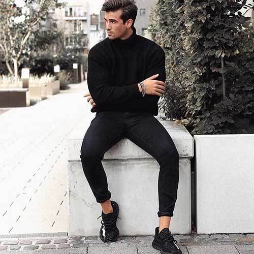 All Black Daily Outfits for Guys