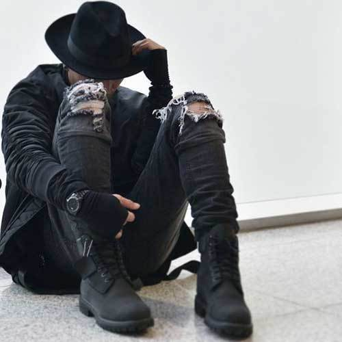All Black Grunge Outfits for Guys