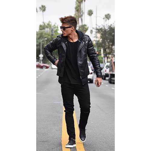 All Black Hoodie Outfits for Guys