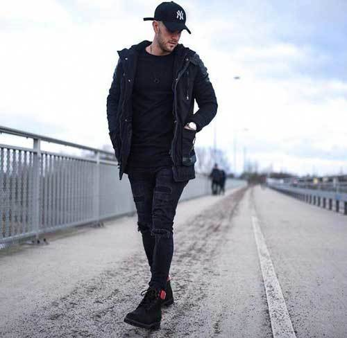 All Black Jeans Outfits for Guys