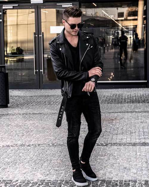 All Black Fashion Outfits for Guys