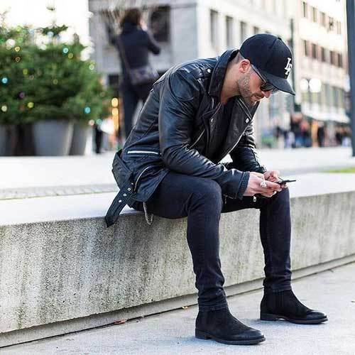 All Black Street Outfits for Guys