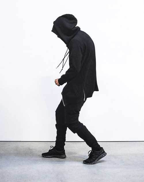 All Black Urban Outfits for Guys