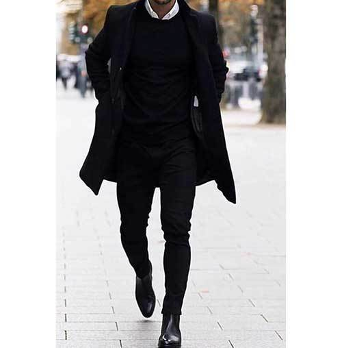 All Black Winter Outfits for Guys