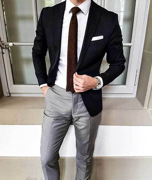 Classy Mens Black Outfits