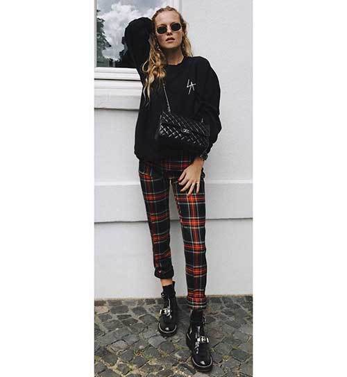 Black Plaid Outfits