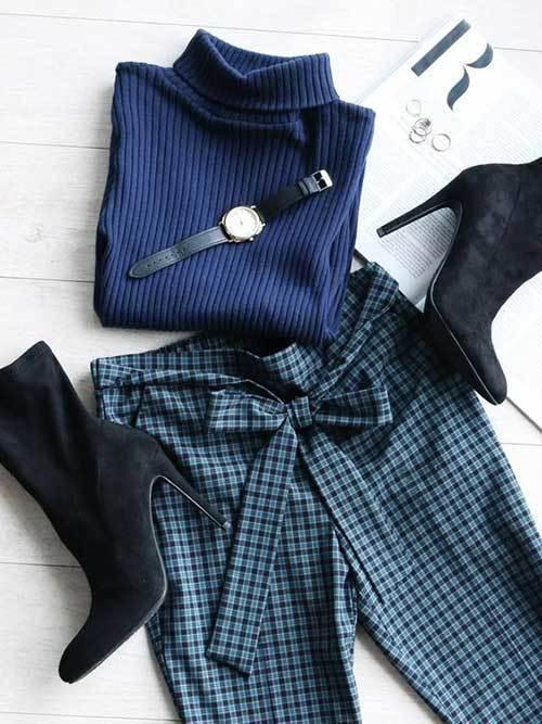 Blue Plaid Outfits