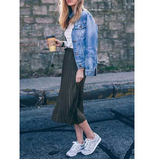 Casual Midi Skirt Outfit Ideas