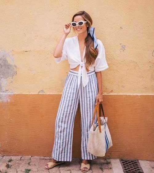 Casual Wide Leg Summer Pants