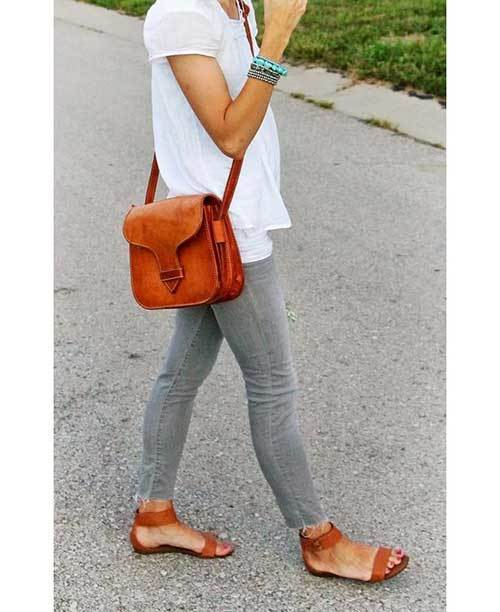 Chic Grey Denim Outfits
