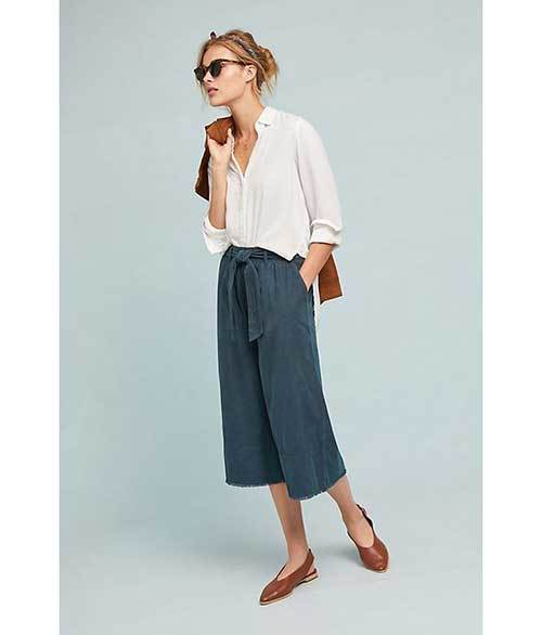 Cropped Wide Leg Summer Pants