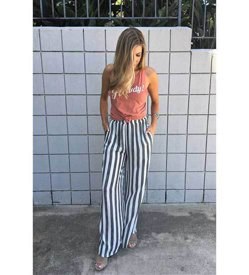 Cute Wide Leg Summer Pants
