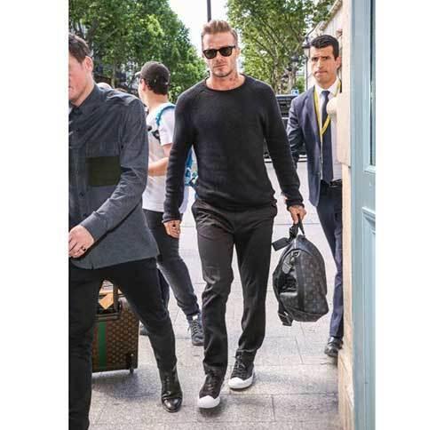 David Beckham Black Outfits