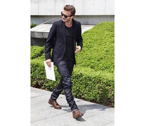 David Beckham Blazer Outfits