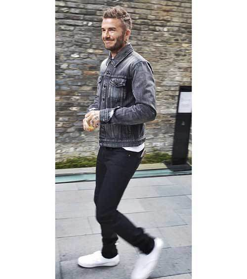 David Beckham Denim Outfits