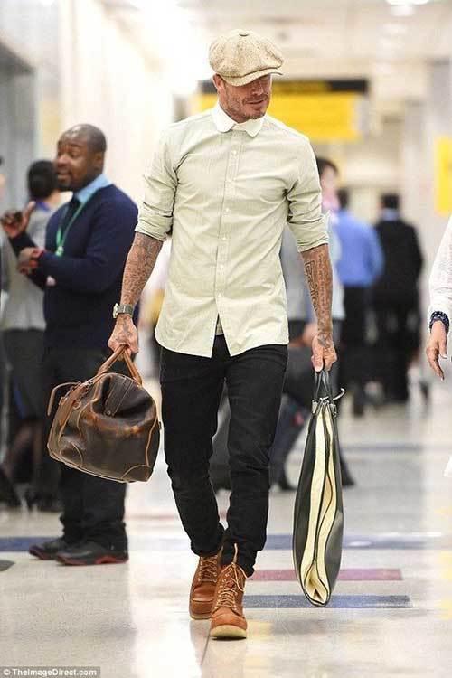 David Beckham Fall Outfits