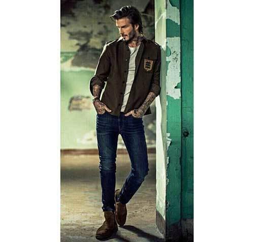 David Beckham Jeans Outfits