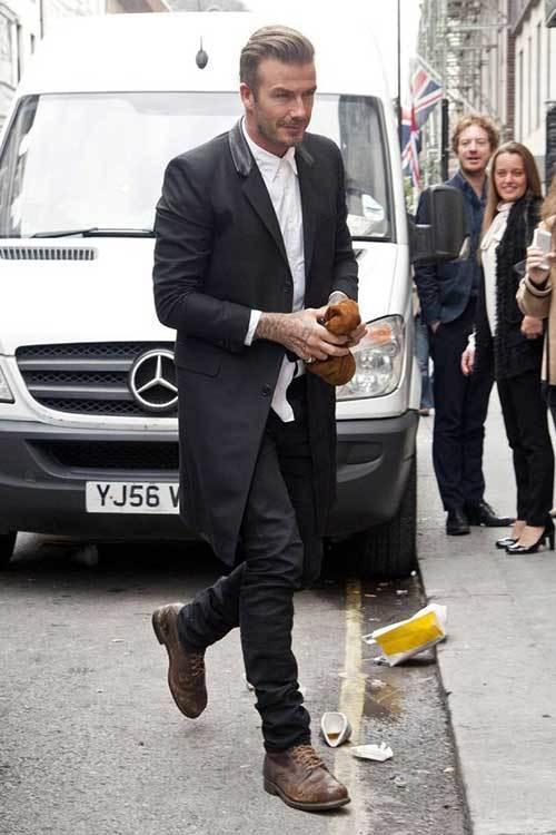 David Beckham Suit Outfits