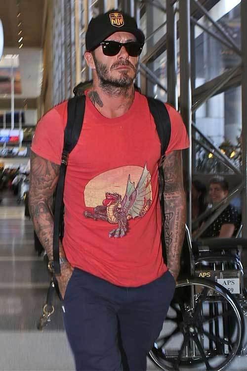 David Beckham T-Shirt Outfits