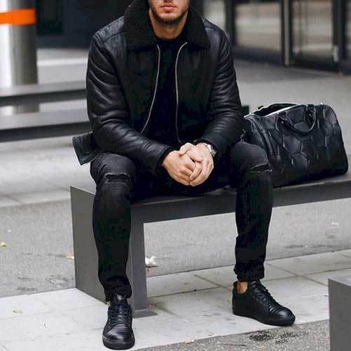 Elegant All Black Outfits for Guys