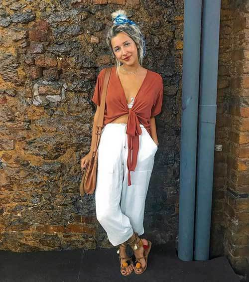 Fashionable Wide Leg Summer Pants
