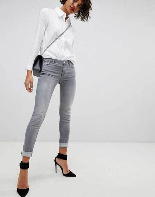 Gray Denim Jeans