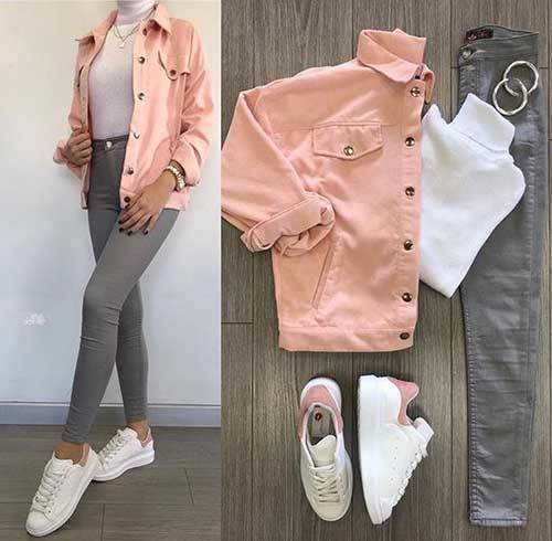 Grey Jeans Outfit Ideas