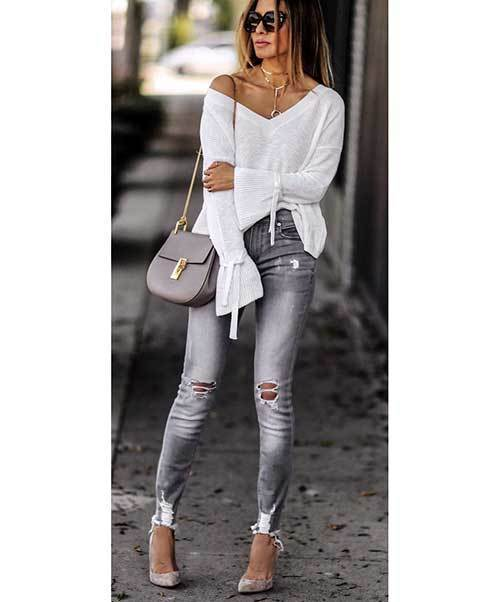 Grey Denim Fall Outfits