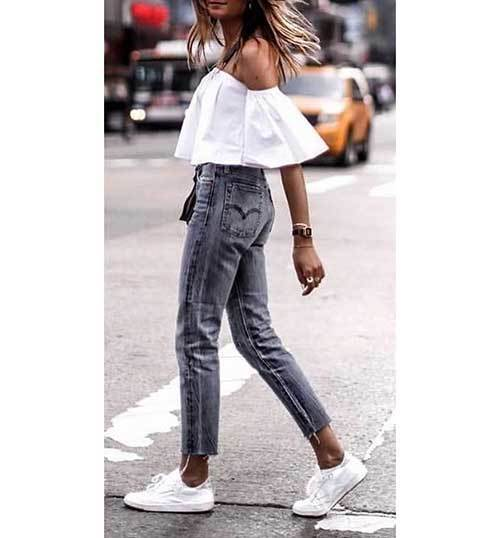 Grey Denim Street Style Outfits