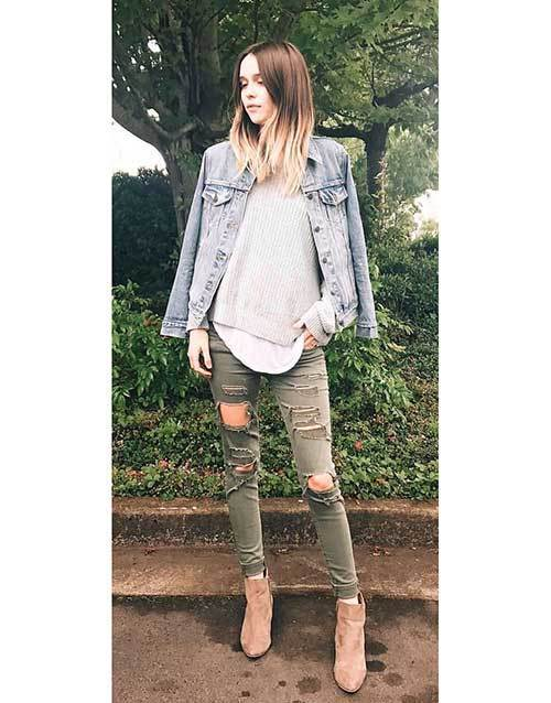 Grey Denim Summer Outfits