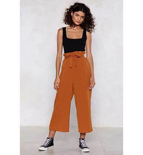 High-Waistedwide Leg Summer Pants