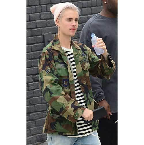 Justin Bieber Camo Outfits