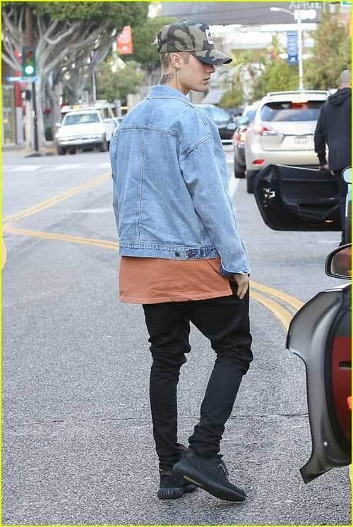 Justin Bieber Denim Outfits